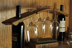Custom Made Wine Barrel Stave Glass Rack by Re-Wined, CustomMade.com