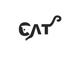 cat Logo design - Great negative space logo for many different type of businesses. Price $350.00 and like OMG! get some yourself some pawtastic adorable cat shirts, cat socks, and other cat apparel by tapping the pin!