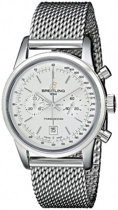 d966d02559d men watches  Men s watches store Breitling Men s A4131012-G757SS Analog  Display Swiss Automatic Silver