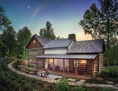 old cabin modern addition - Google Search