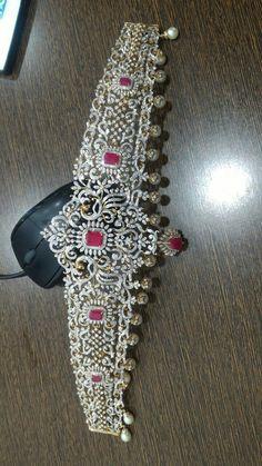 Antique Jewellery Designs, Gold Jewellery Design, Diamond Jewellery, Diamond Necklaces, Diamond Bangle, Bridal Jewellery, Diamond Pendant, Gold Pendant, Pendant Jewelry