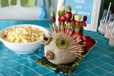 plat de poisson avec fruit!