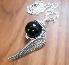 Black Materia, FF7, Final Fantasy 7, Final Fantasy, Sephiroth Materia, Meteor Materia, One Winged Angel, Sephiroth Necklace, sephiroth - pinned by pin4etsy.com
