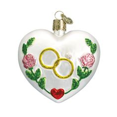 Valentine's Day is just a few days away. There is still plenty of time to shop for your sweetheart. Get a gift that truly shows your love! Check out the full collection of heart ornaments, including the lovely Wedding Heart. #giftideas #happyvalentinesday #valentine #glassornaments #oldworldchristmas #showyourlove Wedding Heart Item #30013