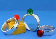 Lego Ring  Interchangeable Bricks  Simple Design  by UBrickIt, $65.00