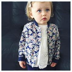 Little girls printed bomber jacket  www.jabayard.com