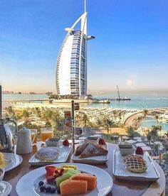 Breakfast for two with an awesome view! 💏 There's nothing like waking up next to the one you love and have that hearty first meal of the day together 💛 Photo by @ounousa x @thebestdestinations