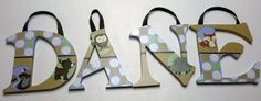 Carter's Forest Friends Nursery Letters