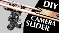 How to Make a Professional Camera Slider DIY!) - Only 40 Pounds cost (no electronics needed) Camera Rig, Camera Gear, Dslr Cameras, Photography Projects, Video Photography, Photography Gear, Diy Camera Slider, Professional Camera, Camera Equipment