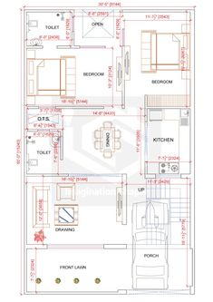 2bhk House Plan, Model House Plan, House Layout Plans, Duplex House Plans, Dream House Plans, House Floor Plans, Village House Design, Duplex House Design, 30x50 House Plans