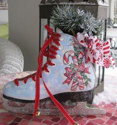 Hand Painted Santa Holiday Skate by MunchkinPlanet on Etsy