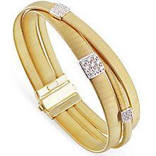 Marco Bicego 18ct Yellow Gold Masai 43pt Diamond Bangle - Product number 5279860