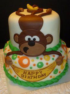 Monkey Cake by Yvonne C, Twin Cities, MN, www.birthdaycakes4free.com by Birthday Cakes 4 Free, via Flickr