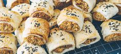 Perfect for finger food at your next party, this vegetarian alternative to sausage rolls is lower in saturated fat, full of flavour and sure to be a hit with your guests!