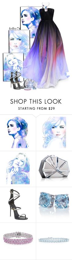 """""""Watercolor"""" by kelley74 ❤ liked on Polyvore featuring Van Cleef & Arpels, Elie Saab, Rauwolf, Giuseppe Zanotti, Amour and Tiffany & Co."""