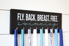 Swim Medal Holder - Fly. Back. Breast. Free. Swimming - Medium