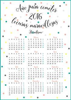 Freebie: calendario 2016