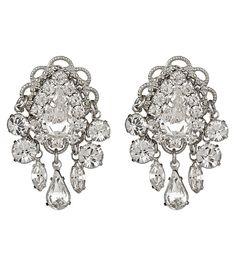 "Erickson Beamon ""Dangerous Liaisons"" earrings with hand-cut Swarovski crystals"