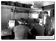Germans at work with an Enigma machine