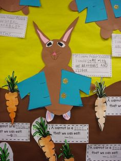 Peter Cottontail writing activity and plant unit ideas - very cute!