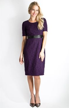 Center of Attention Dress- Blackberry