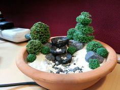 Miniature zen Garden by WallzArt Miniature Zen Garden, Miniature Gardens, Go Green, Bonsai, Landscape Design, Zen Gardens, Miniatures, Landscapes, Happiness