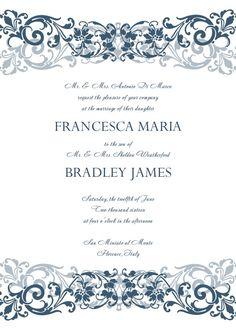 wedding invitation templates for word
