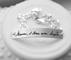 Actual Handwriting Jewelry  Handwriting by 3LittlePixiesShoppe