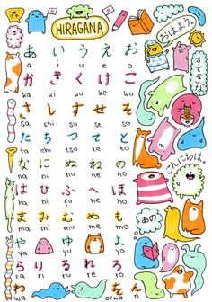 This is cute Hiragana chart for reference for you guys(>y<)
