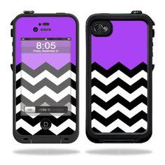Skin Decal Sticker for Lifeproof iPhone 4 4S Case Skins Purple Chevron | eBay