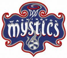 Washington Mystics logo 3 machine embroidery design. Machine embroidery design. www.embroideres.com