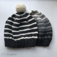 The free knit pattern for this Adult Bentie Beanie is now available for free on my blog. It doubles very nicely as a pompom hat and can be made in any possible stripe combination. It is written out for circular needles, but there are instructions for working on straight needles as well.