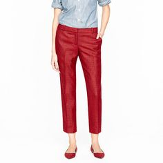 DROOL!  Collection café capri in houndstooth in red pepper  #JCrew