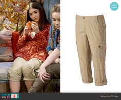 Riley's cargo pants on Girl Meets World.  Outfit Details: https://wornontv.net/58823/ #GirlMeetsWorld