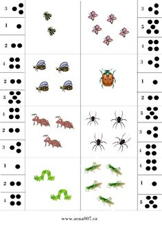 Bug Activities, Toddler Learning Activities, Printable Preschool Worksheets, Worksheets For Kids, Math Subtraction, Subitizing, Interactive Learning, Math For Kids, Kindergarten Math