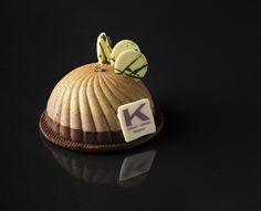 #monoporzione #Autunno di #Ernst #Knam #mousse #pistacchio di #Bronte, #bavarese #caffè, cremoso #cioccolato #fondente Perù 70%, sablè al cioccolato e #sale di #Maldon