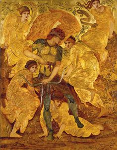 'Cupid's Hunting Fields' by Edward Burne-Jones, 1882