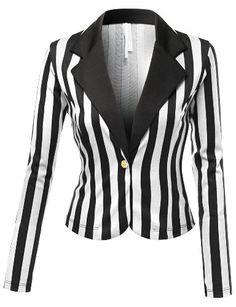 SJSP Women Plus-Size Long Sleeve Tailored Boyfriend one button Blazer