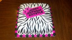 "Stripes fro the Bithday Girl 10"" square"