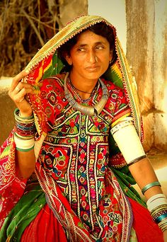 INDIA: traditional dress in Northern India.