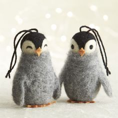 Wooly Penguin Ornaments | Crate and Barrel