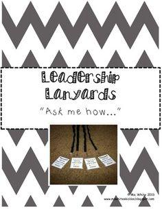 Leadership Lanyards {Leader in Me & 7 Habits}