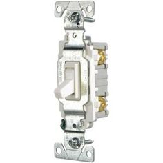 Eaton 15 Amp Single Pole Light Switch, White CSB115STW-SP at The Home Depot - Mobile
