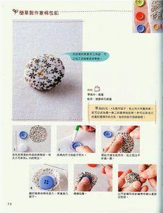 make fabric covered buttons. Crochet Buttons, Diy Buttons, Fabric Beads, Fabric Jewelry, Diy Flowers, Fabric Flowers, Upcycled Crafts, Diy And Crafts, Craft Tutorials