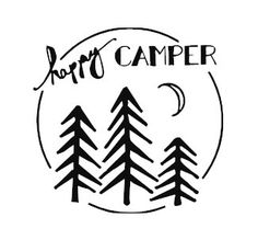 HAPPY CAMPER camping vinyl decal sticker car by kyliescreations