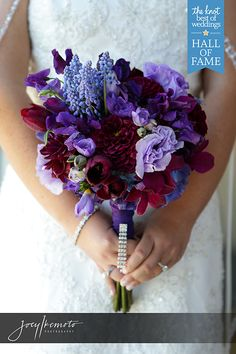 Purple and Lavender Wedding Bouquet Photo by Joey Ikemoto