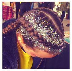 Silver hair glitter