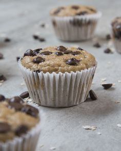Muffin de banana com chocolate de liquidificador