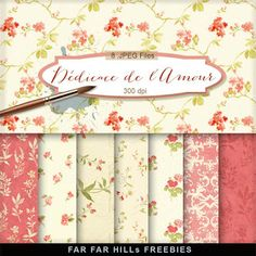 New Freebies Kit of Background - Dédicace de l'Amour:Far Far Hill - Free database of digital illustrations and papers