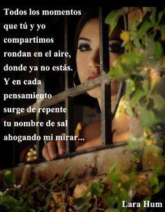 Lara Hum. http://www.larahum.blogspot.com.ar/ Frases de amor, letras de canciones, poemas.